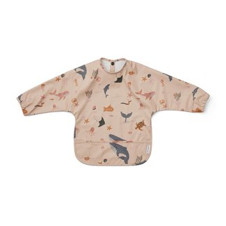 Liewood Slab met Mouwen - Merle Cape Bib | Sea Creature Rose Mix