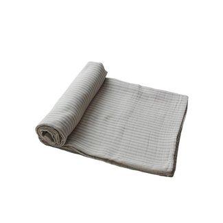 Mushie Hydrofiele doek - Swaddle   Sage Stripes
