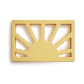 Mushie Bijtring - Teether Sun   Muted Yellow