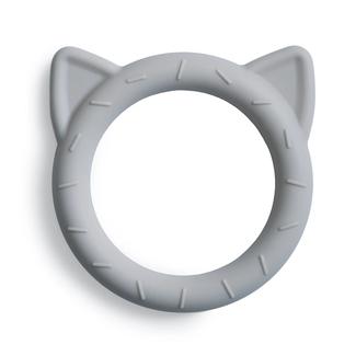 Mushie Bijtring - Teether Cat   Stone