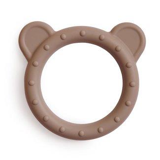 Mushie Bijtring - Teether Bear | Natural