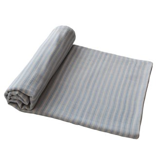 Mushie Hydrofiele doek - Swaddle | Blue Stripes