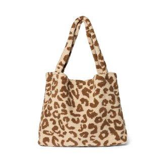 Studio Noos Teddy Leopard Ecru Mom-Bag