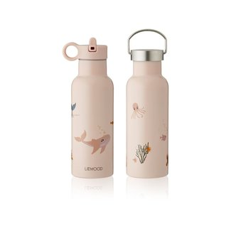 Liewood Drinkfles Anker Water Bottle | Sea Creature Rose Mix