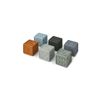 Liewood Dobbelstenen 6-pack | Blue Multi Mix