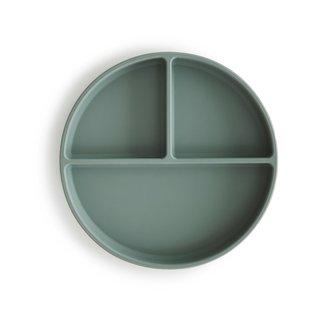 Mushie Siliconen Bord met Zuignap | Cambridge Blue
