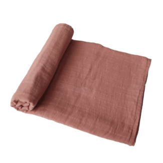 Mushie Hydrofiele doek - Swaddle | Cedar