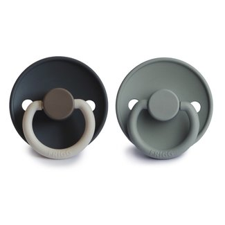 FRIGG Color Fopspeen Silicone   Deep Sea / French Gray  6-18 mnd