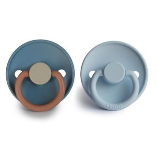 FRIGG Color Fopspeen Silicone | Breeze / Baby Blue 0-6 mnd