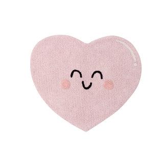 Lorena Canals Happy Heart | Vloerkleed 90 x 105 cm