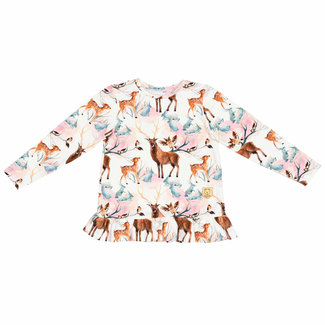 Misioo Shirt Met Lange Mouwen & Ruches | Forest Stories
