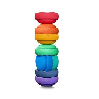 Stapelstein Rainbow Colour   Set van 8