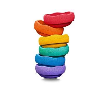 Stapelstein Rainbow Colour   Set van 6