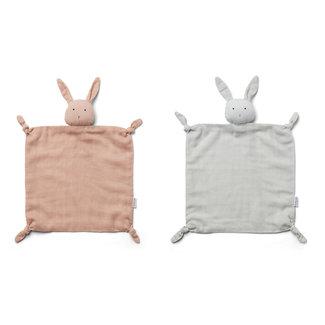 Liewood Agnete Knuffeldoek 2-pack | Rabbit Rose / Dumbo Grey