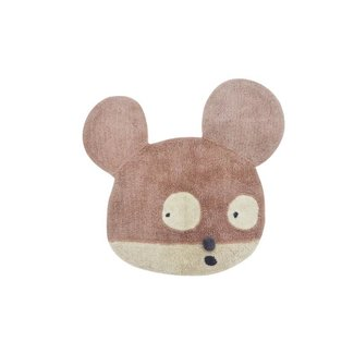 Lorena Canals Miss Mighty Mouse | Wollen Vloerkleed 100 x 120 CM