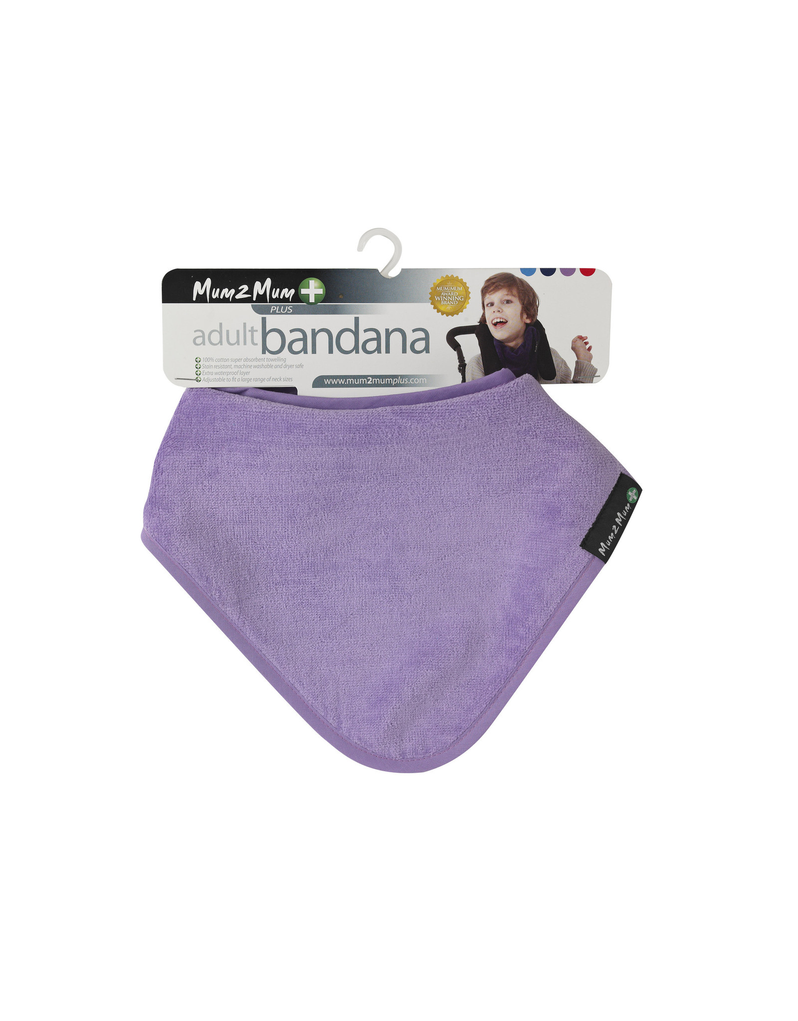 Mum2Mum Mum2Mum Plus Range Adult Bandana Bib Purple