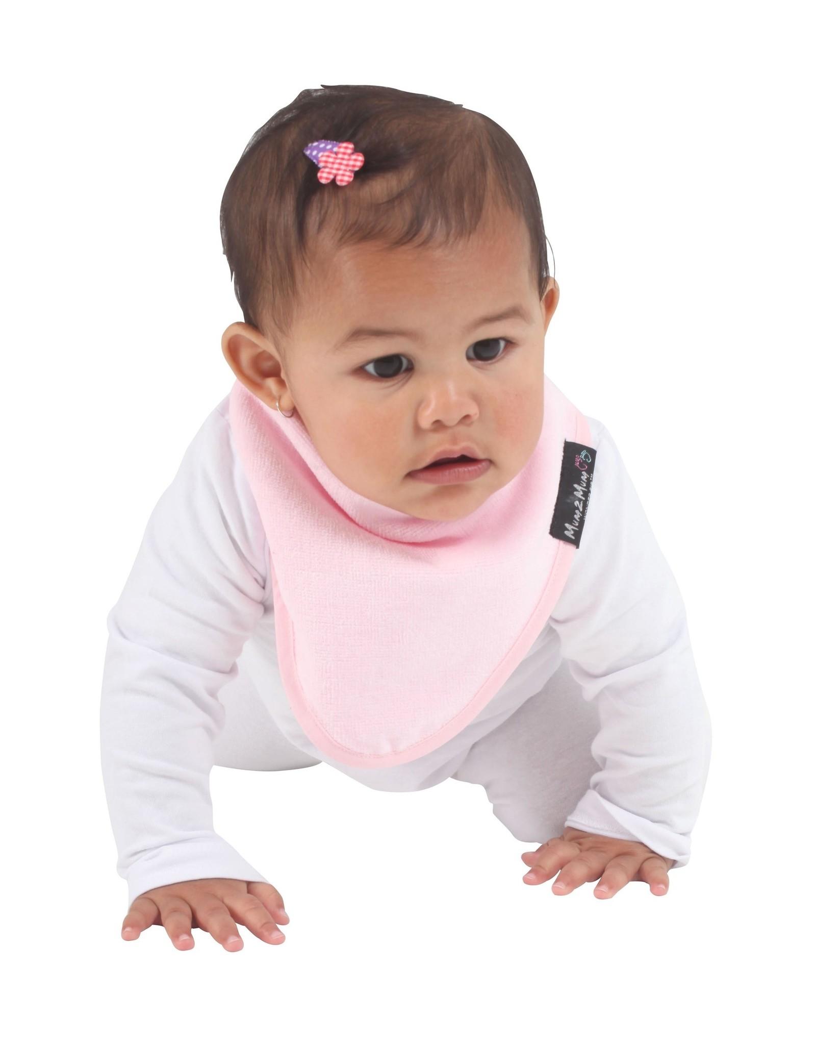Mum2Mum Mum2Mum Bandana Bib Baby Pink 6 stuks