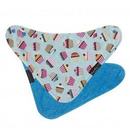 Mum2Mum Fashion Bib Cupcakes Teal 6 pieces