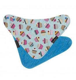 Mum2Mum Fashion Bib Cupcakes Teal 6 stuks