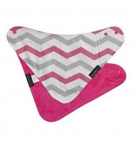 Mum2Mum Fashion Bib Pink Chevron Cerise 6 stuks