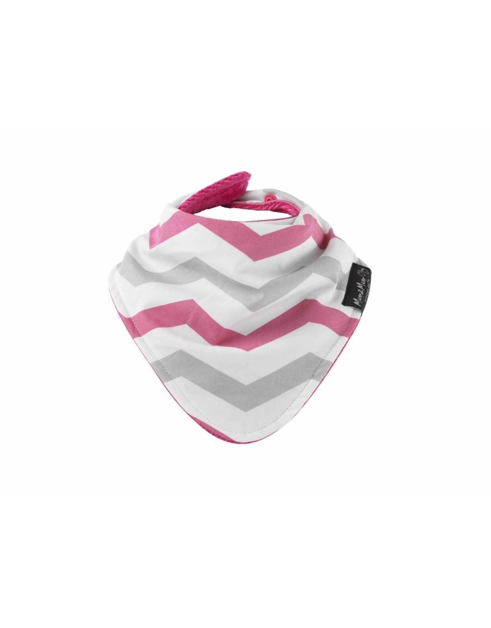 Mum2Mum Mum2Mum Fashion Bib Pink Chevron Cerise