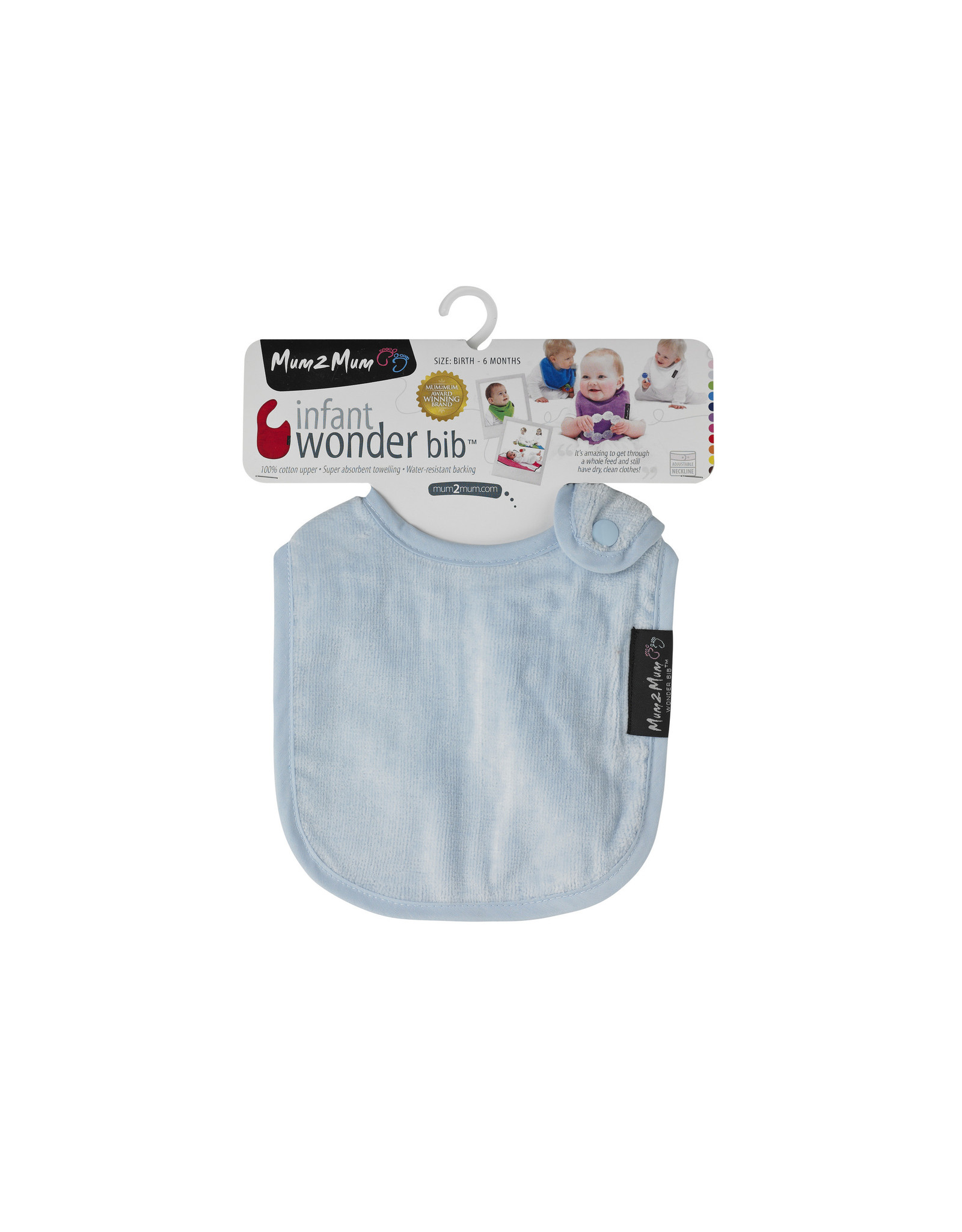 Mum2Mum Mum2Mum Infant Bib Baby Blue 6 pieces