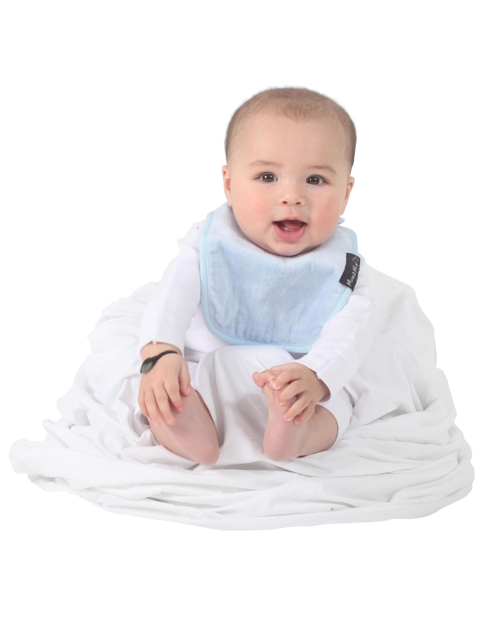 Mum2Mum Mum2Mum Infant Bib Baby Blue 6 stuks