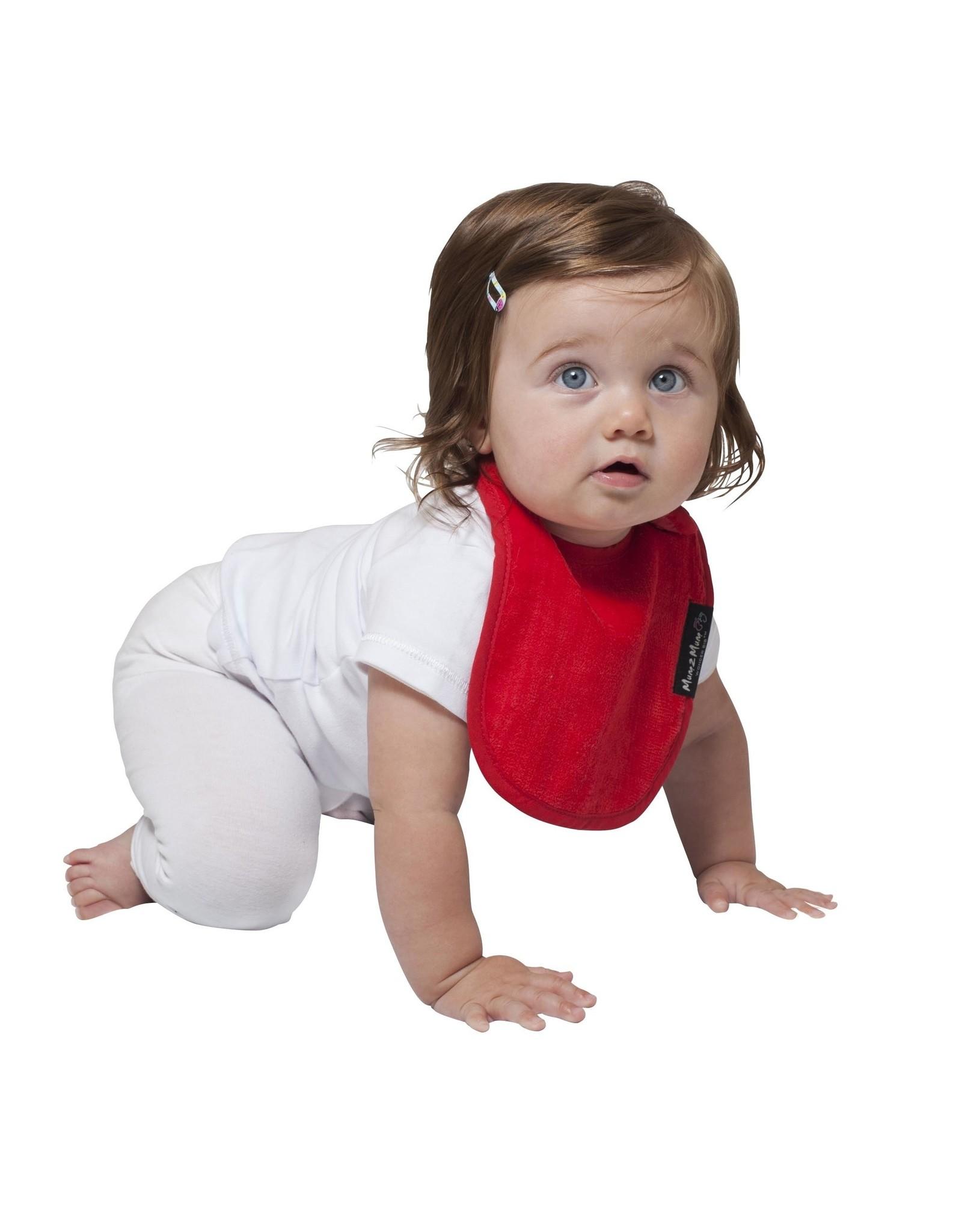 Mum2Mum Mum2Mum Infant Bib Red 6 pieces