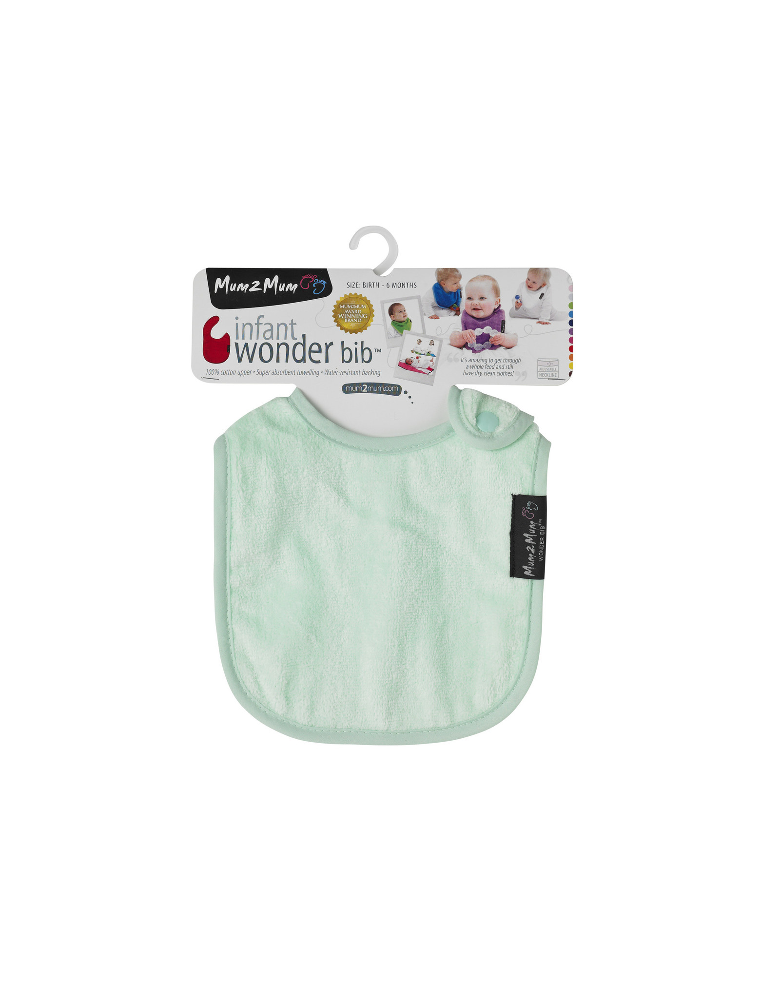 Mum2Mum Mum2Mum Infant Bib Mint 6 pieces