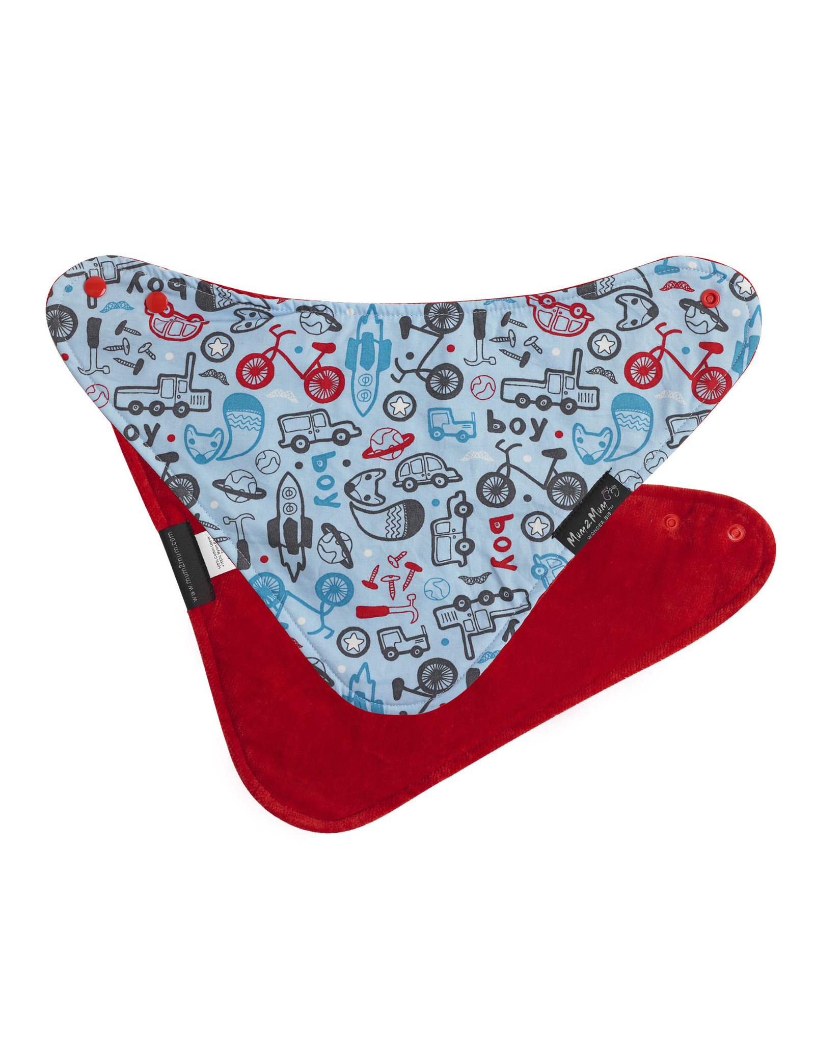 Mum2Mum Mum2Mum Fashion Bib Boy Print Red