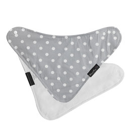 Mum2Mum Fashion Bib Grey Dots White 6 pieces