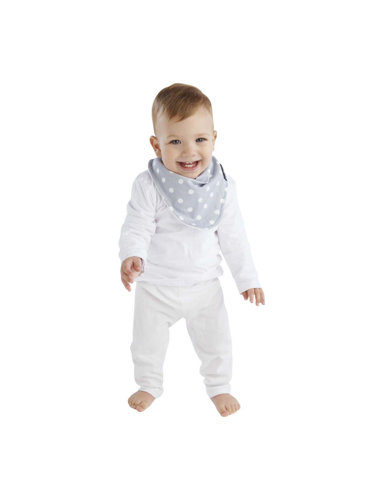 Mum2Mum Mum2Mum Fashion Bib Grey Dots White