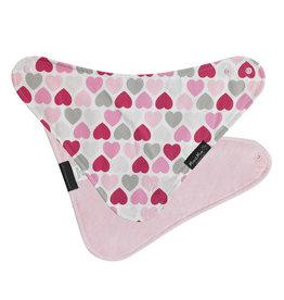 Mum2Mum Fashion Bib Hearts Baby Pink 6 stuks