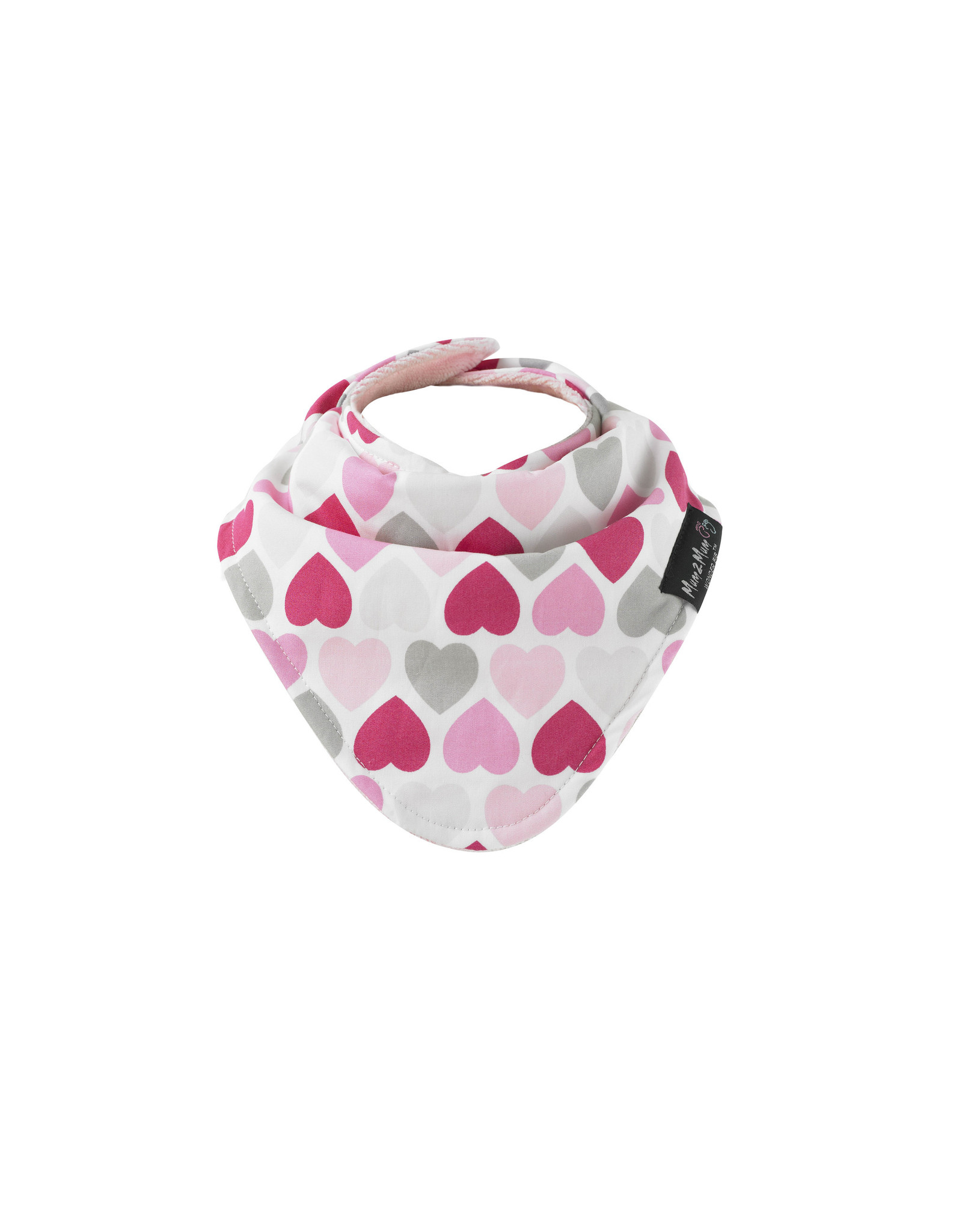Mum2Mum Mum2Mum Fashion Bib Hearts Baby Pink 6 stuks