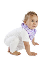 Mum2Mum Mum2Mum Fashion Bib Purple Daisies Purple 6 pieces