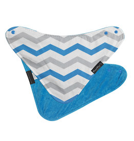 Mum2Mum Fashion Bib Teal Chevron Teal 6 stuks