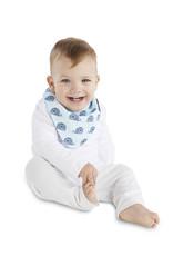 Mum2Mum Mum2Mum Fashion Fib Whales Baby Blue 6 pieces