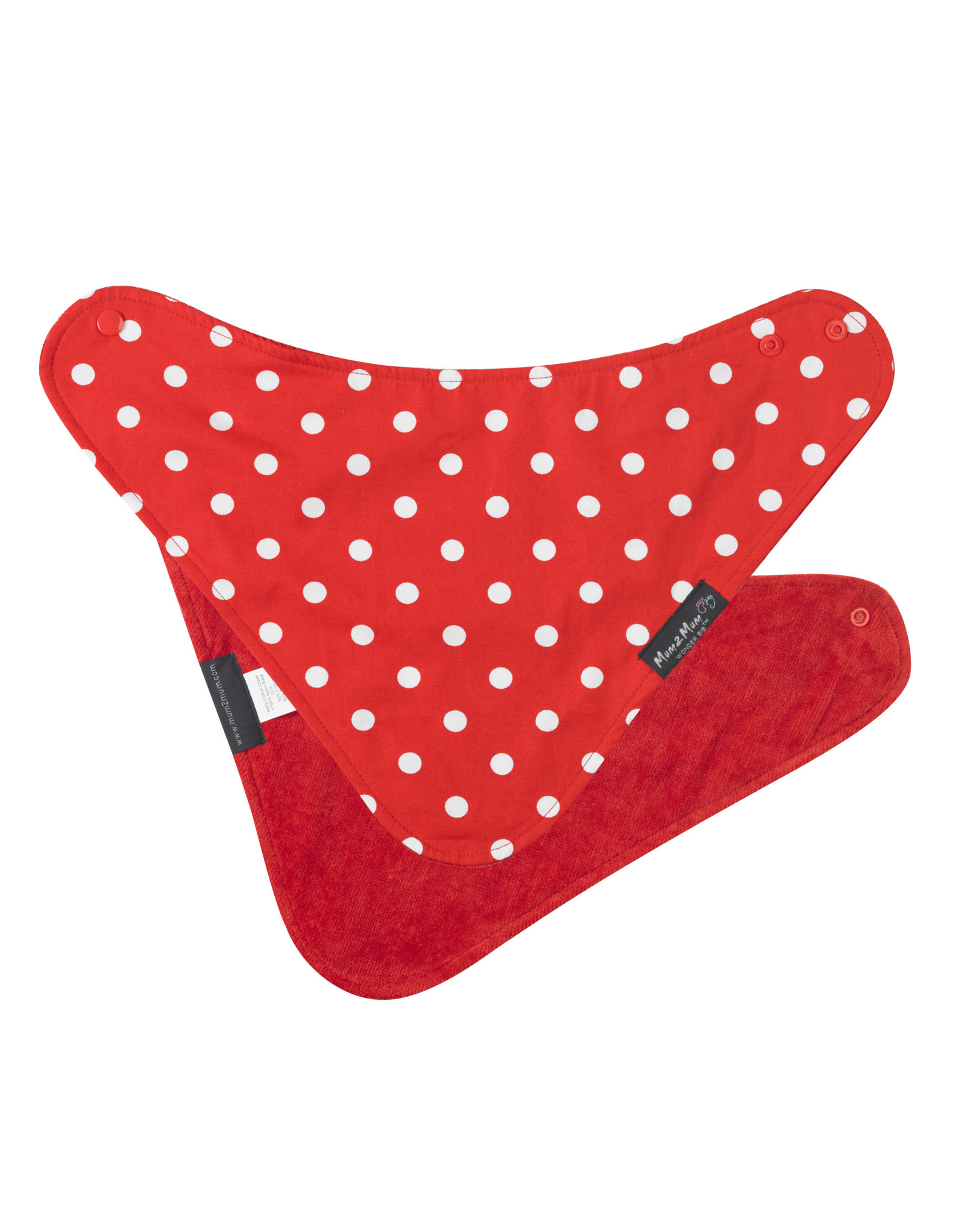 Mum2Mum Mum2Mum Fashion Bib Red Dots 6 pieces
