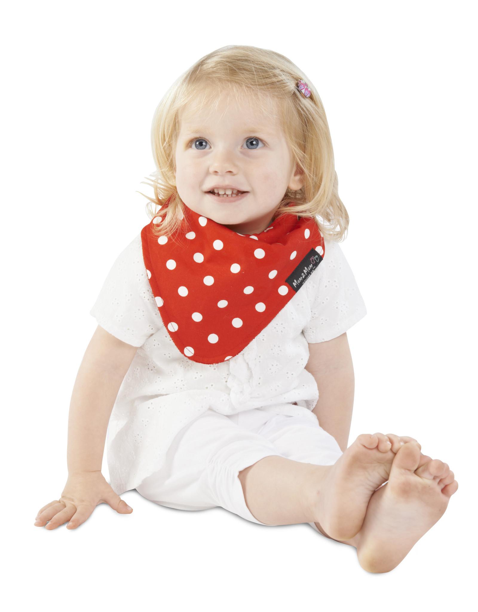 Mum2Mum Mum2Mum Fashion Bib Red Dots