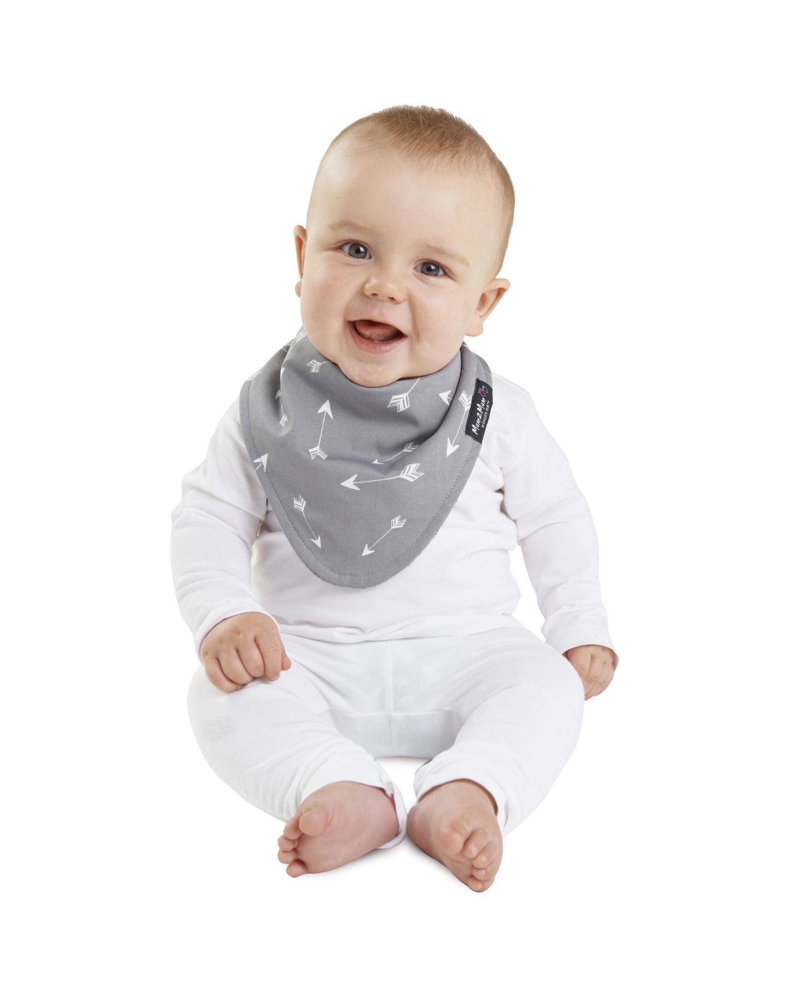 Mum2Mum Mum2Mum Fashion Bib Grey Arrow