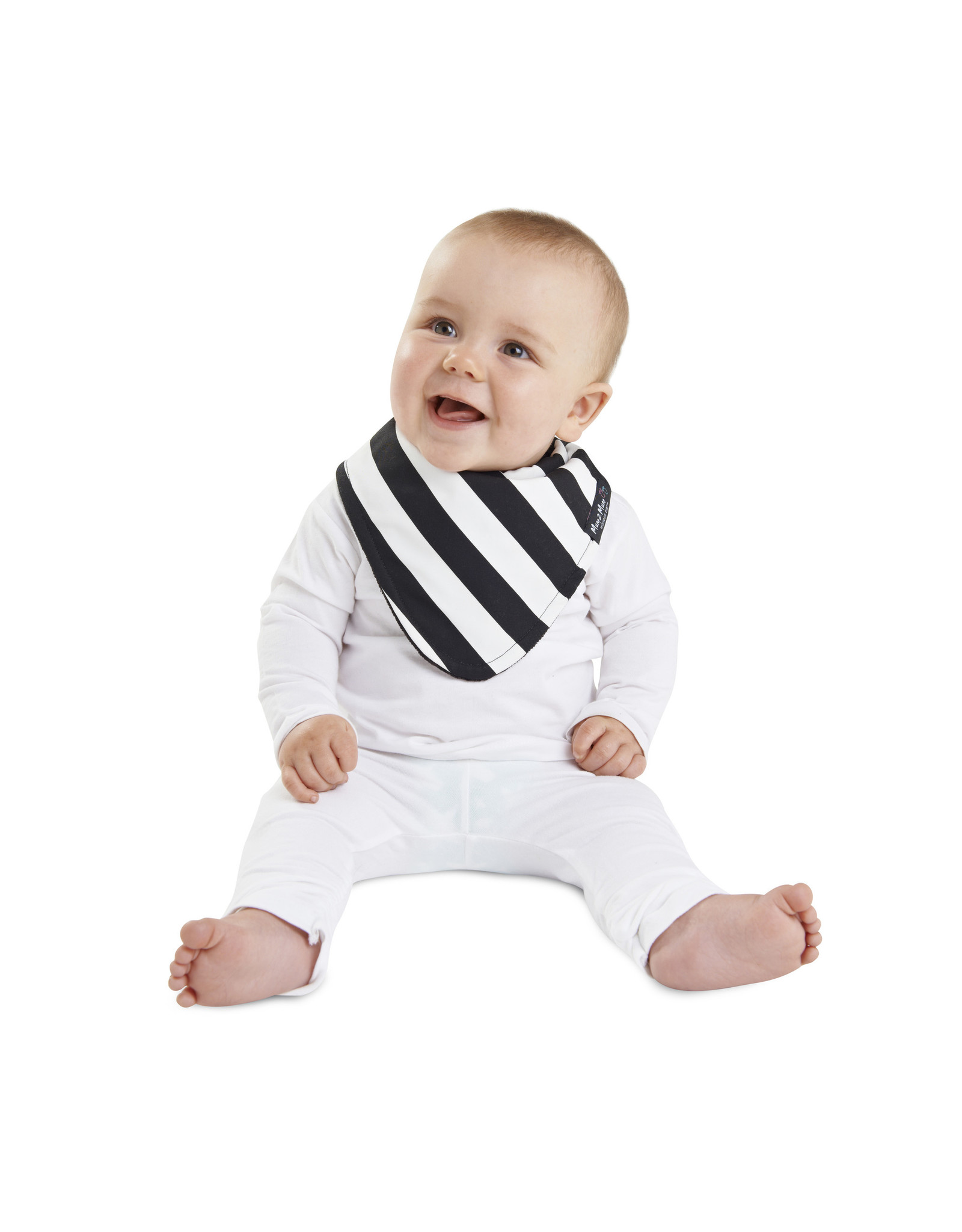 Mum2Mum Mum2Mum Fashion Bib B&W Stripes