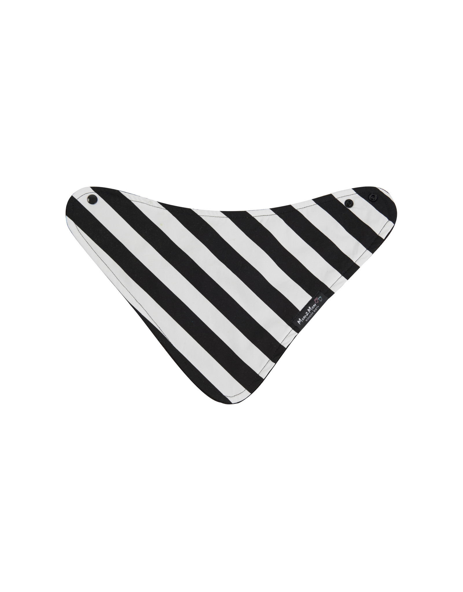 Mum2Mum Mum2Mum Fashion Bib B&W Stripes 6 pieces