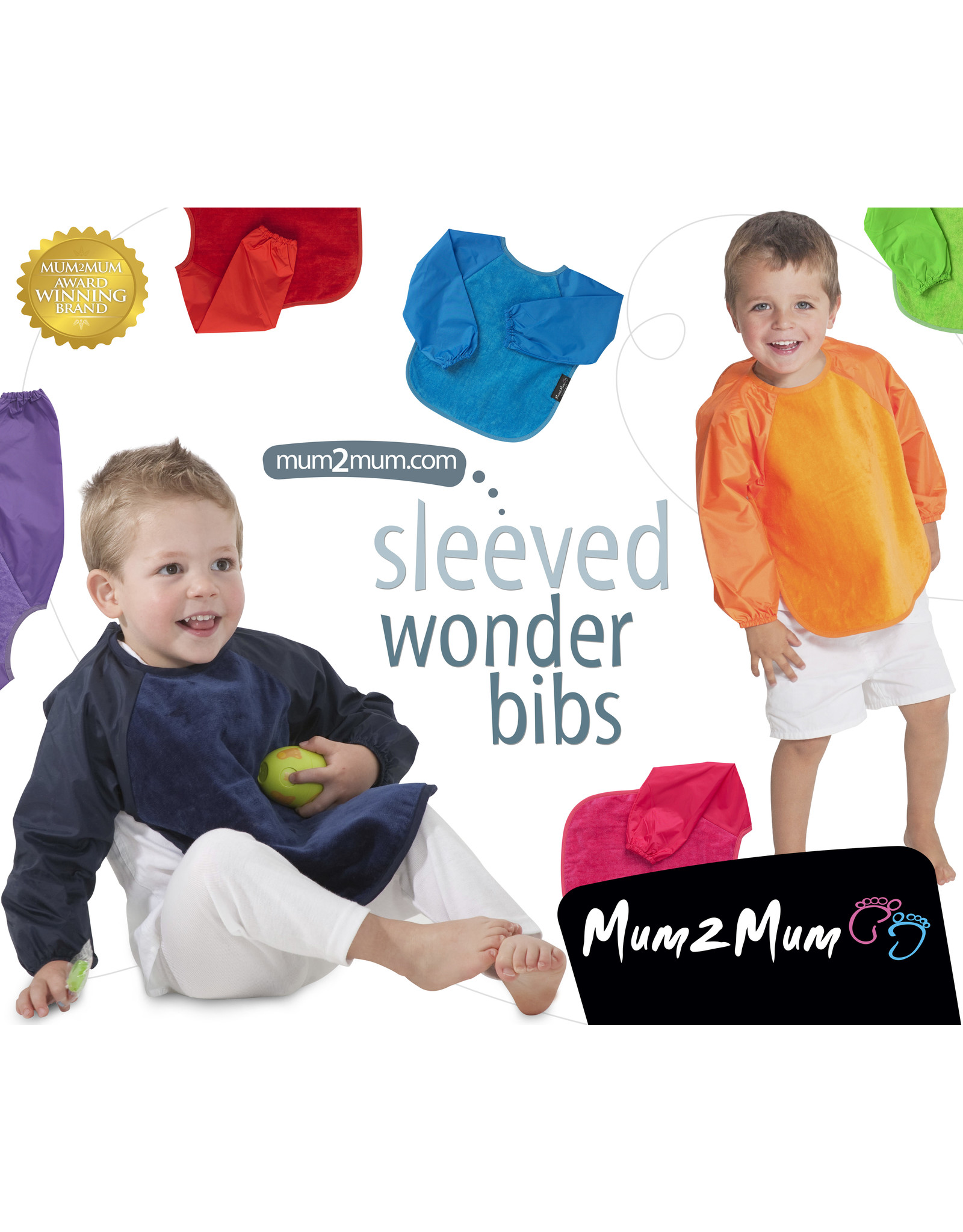 Mum2Mum Mum2Mum Sleeved Bib Large Cerise