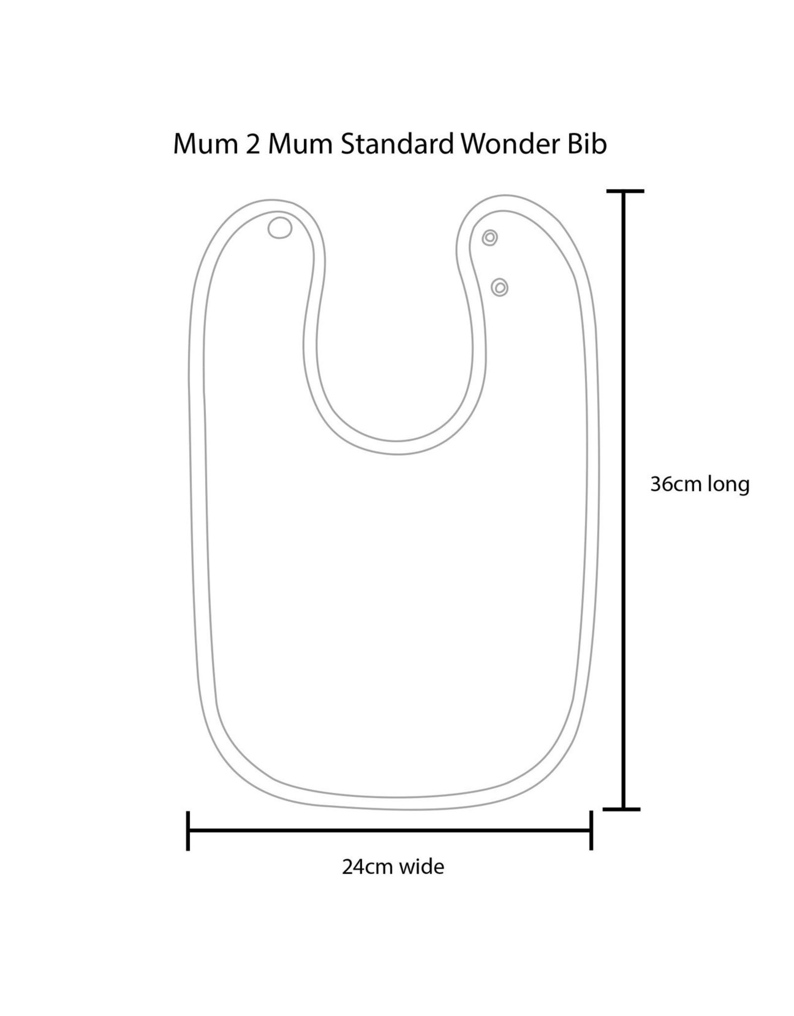 Mum2Mum Mum2Mum Standard Bib  Purple 6 stuks