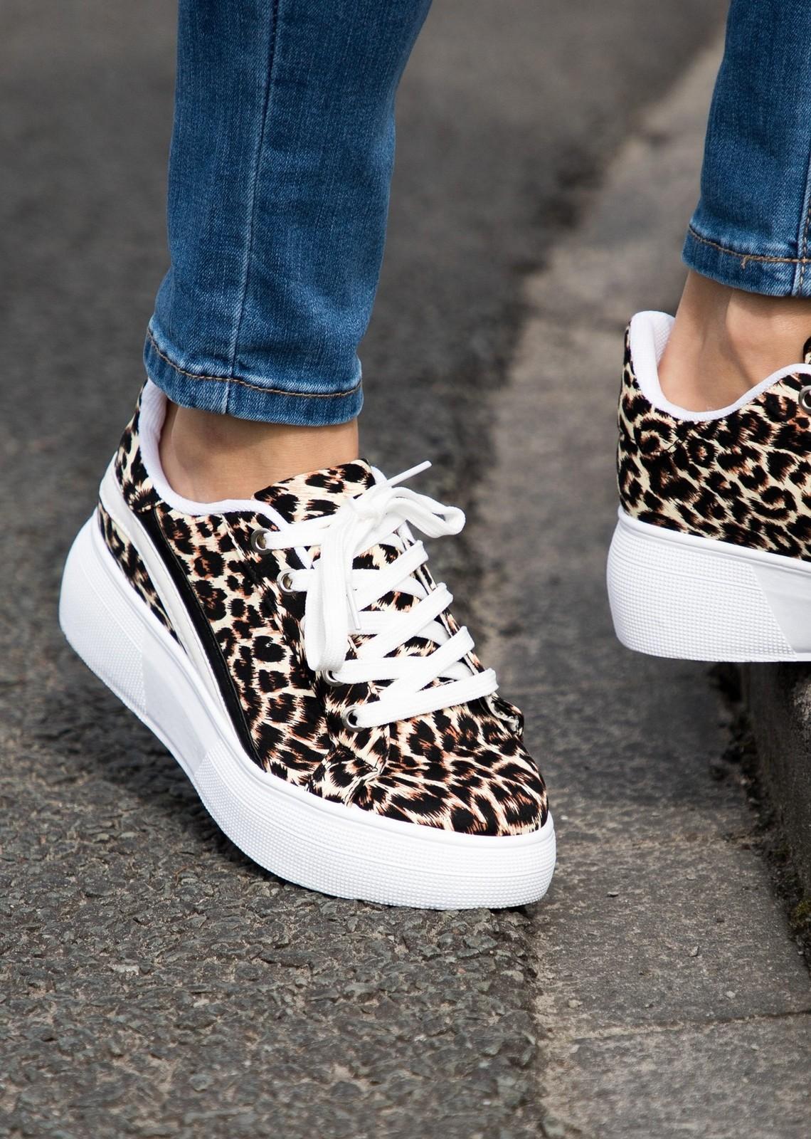 leopard platform sneaker