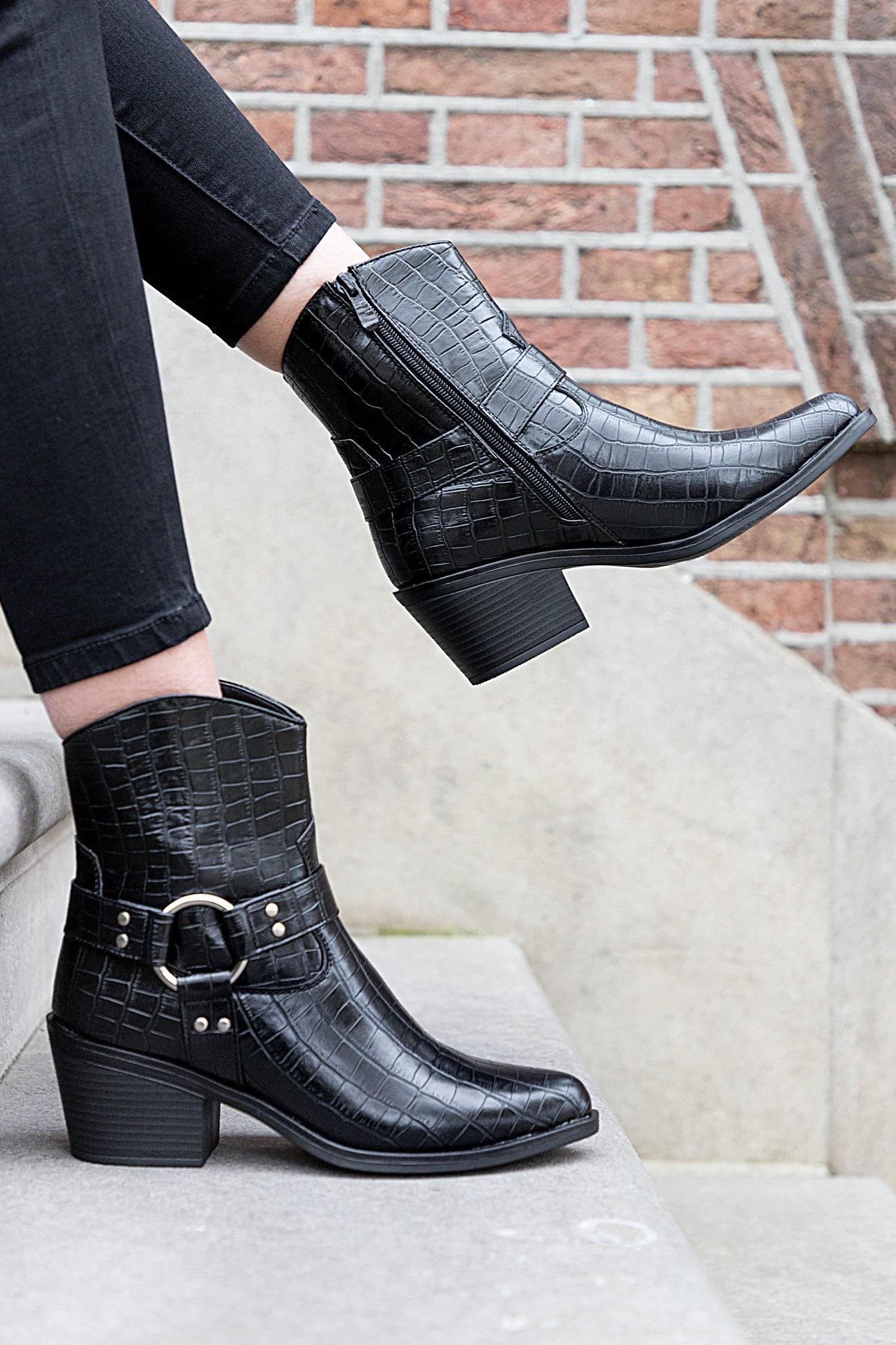 Croco boots Tara