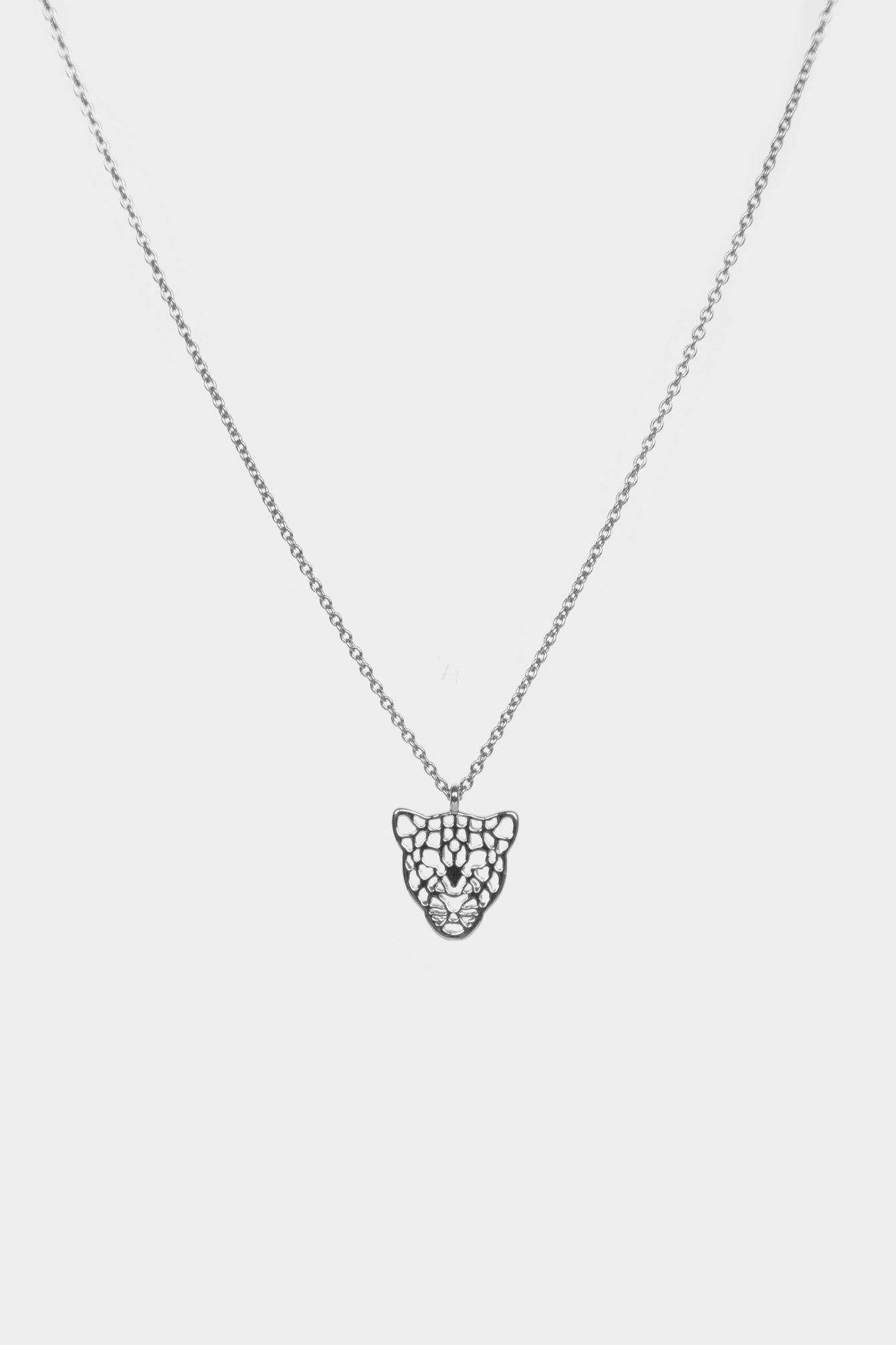 Leopard necklace silver