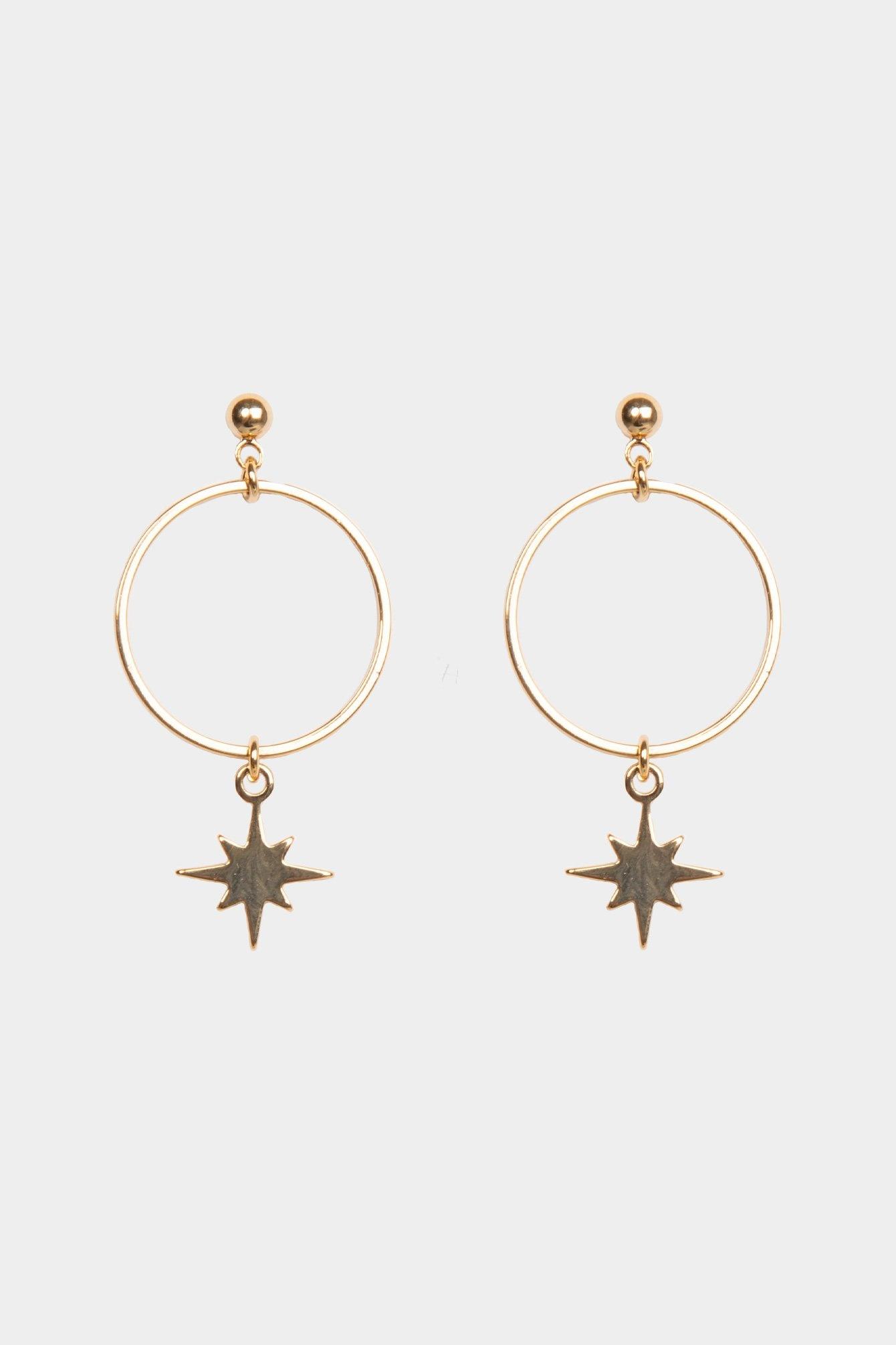 Earring stars gold
