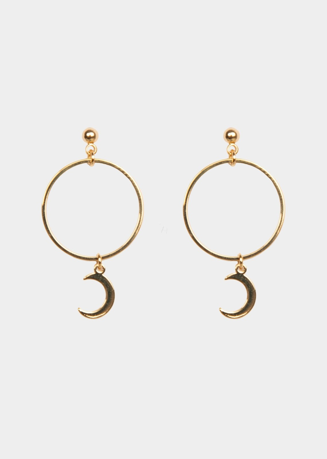 Earring moon gold