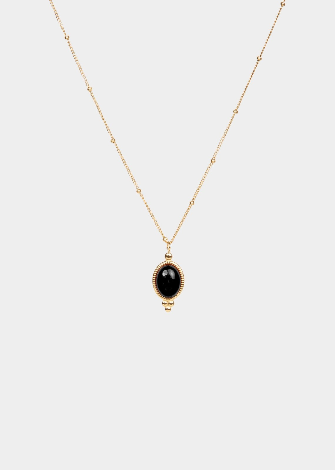 Stone black necklace